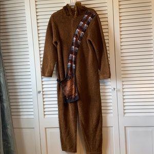 Chewbacca Onesie Costume/pajamas (Adult-Small)